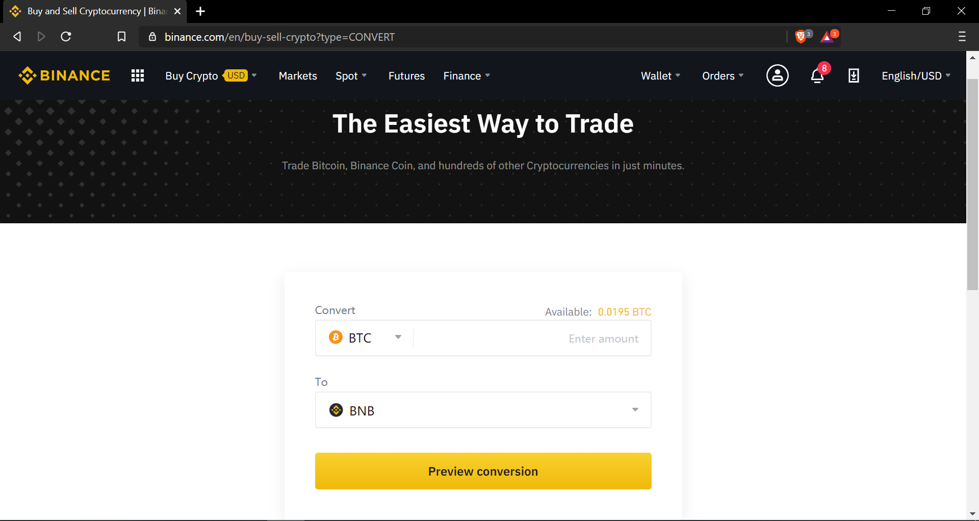 binance basic trading