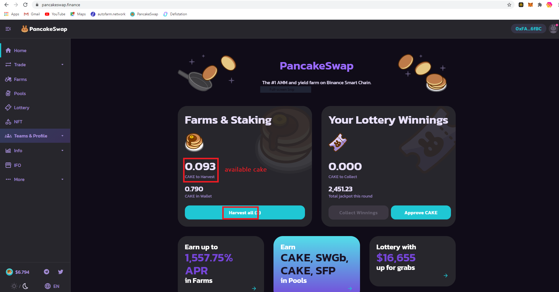 Home page pancake swap