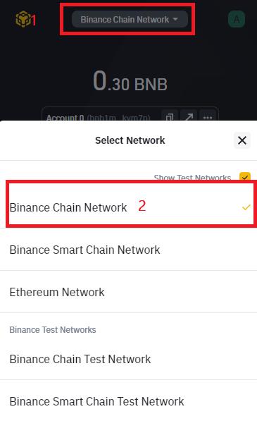 change wallet networks