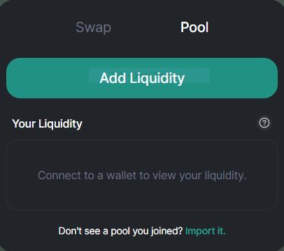 click add liquidity