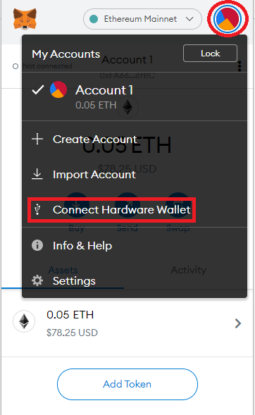 select hardware wallet