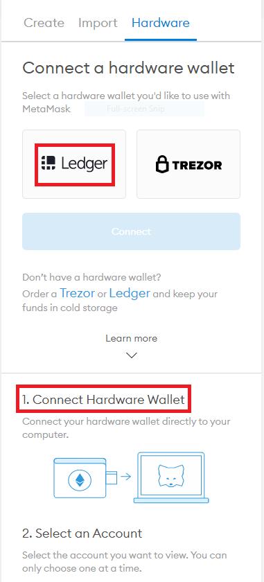 select ledger wallet