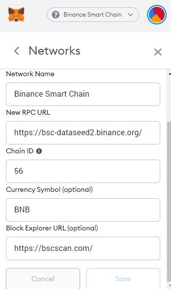 set up Binance Smart Chain network