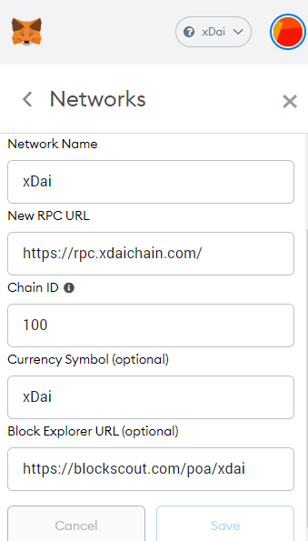 xDai network