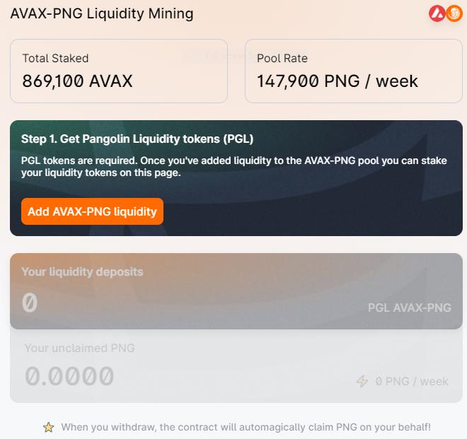Add AVAX - PNG liquidity