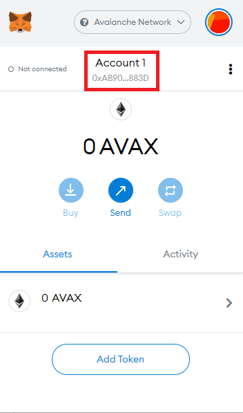 copy AVAX address