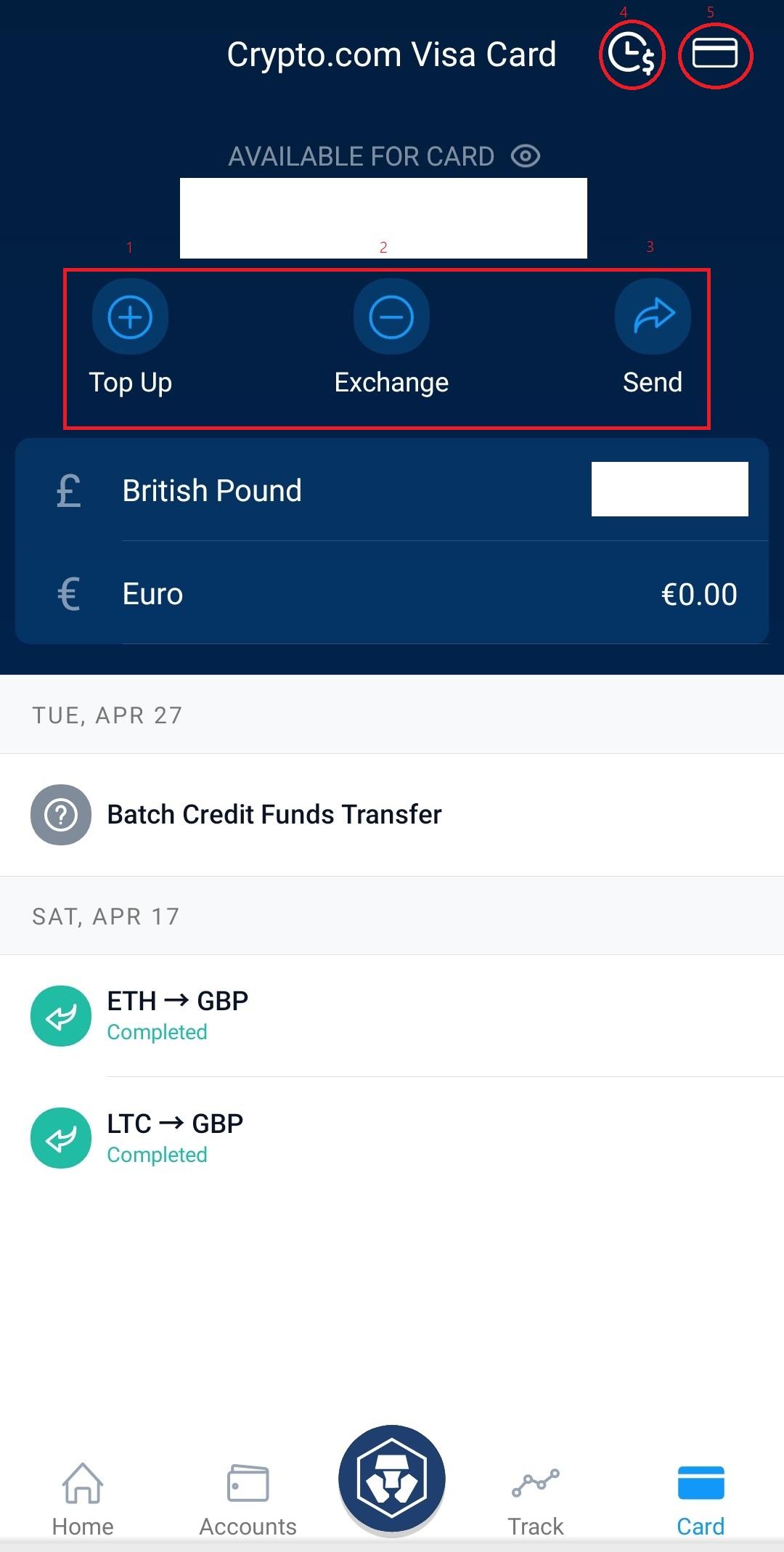 Crypto.com card app