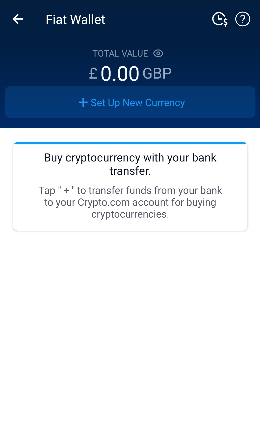 Transfer fiat from bank to Crypto.com account