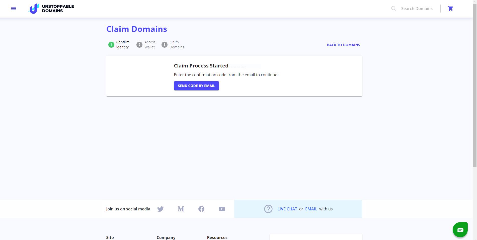 claim domains