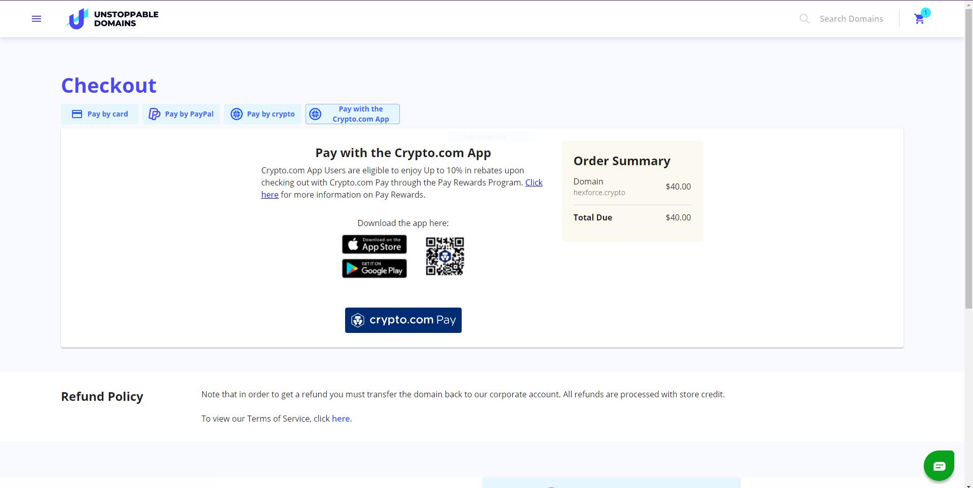pay with crypto.com