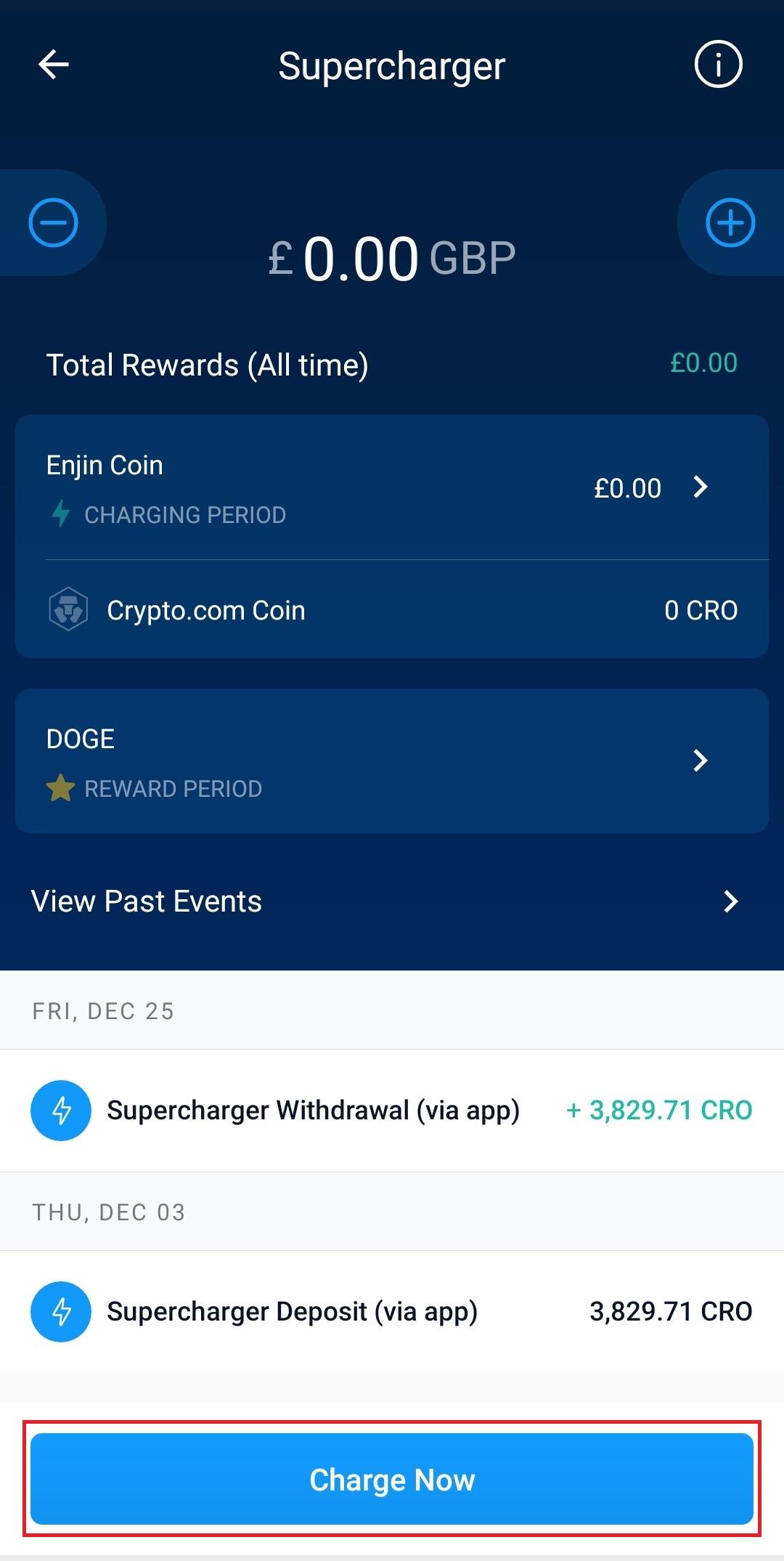 supercharger Crypto.com